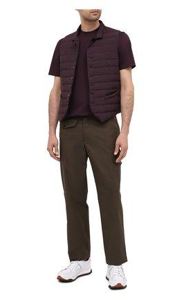 Мужская хлопковая футболка ERMENEGILDO ZEGNA фиолетового цвета, арт. UV526/707R | Фото 2 (Рукава: Короткие; Длина (для топов): Стандартные; Материал внешний: Хлопок; Мужское Кросс-КТ: Футболка-одежда; Принт: Без принта; Стили: Кэжуэл)
