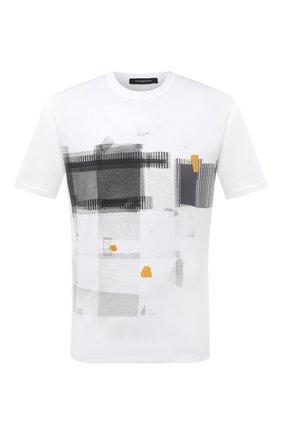 Мужская хлопковая футболка ERMENEGILDO ZEGNA белого цвета, арт. UV525/706D | Фото 1