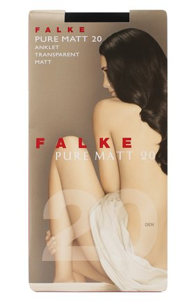 Женские капроновые носки pure matt FALKE черного цвета, арт. 41312 | Фото 1