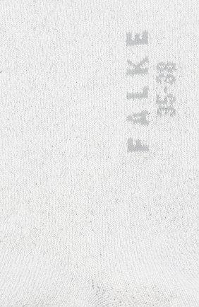 Женские носки shiny FALKE светло-серого цвета, арт. 46250   Фото 2