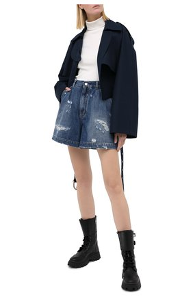Женские джинсовые шорты DOLCE & GABBANA голубого цвета, арт. FTBXBD/G8CT6 | Фото 2