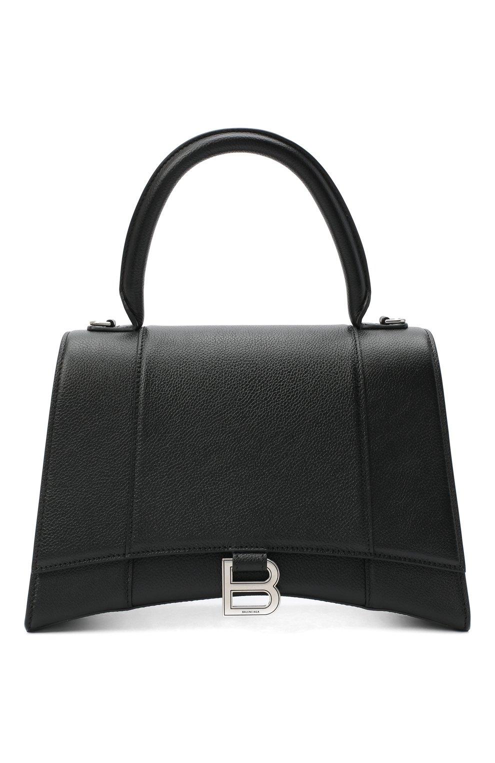 Женская сумка hourglass m BALENCIAGA черного цвета, арт. 619668/1IZHY | Фото 1