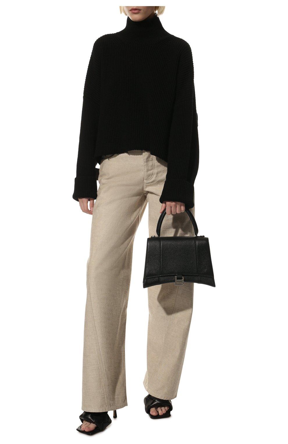 Женская сумка hourglass m BALENCIAGA черного цвета, арт. 619668/1IZHY | Фото 2