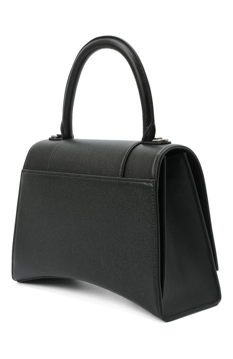 Женская сумка hourglass m BALENCIAGA черного цвета, арт. 619668/1IZHY | Фото 4