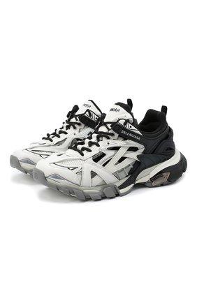 Женские текстильные кроссовки track.2 BALENCIAGA черно-белого цвета, арт. 568615/W2GN3 | Фото 1
