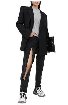 Женские текстильные кроссовки track.2 BALENCIAGA черно-белого цвета, арт. 568615/W2GN3 | Фото 2