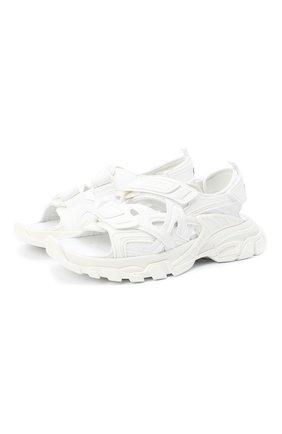 Женские текстильные сандалии track BALENCIAGA белого цвета, арт. 617543/W2CC1 | Фото 1