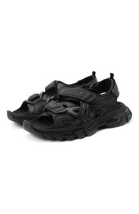 Женские текстильные сандалии track BALENCIAGA черного цвета, арт. 617543/W2CC1 | Фото 1