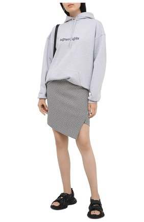 Женские текстильные сандалии track BALENCIAGA черного цвета, арт. 617543/W2CC1 | Фото 2