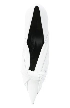 Женские кожаные туфли drapy BALENCIAGA белого цвета, арт. 617578/WA2M0 | Фото 5