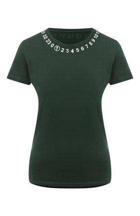 Женская хлопковая футболка MAISON MARGIELA зеленого цвета, арт. S51GC0434/S22816 | Фото 1
