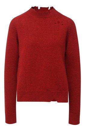 Женский шерстяной свитер MAISON MARGIELA красного цвета, арт. S51GP0200/S17486   Фото 1