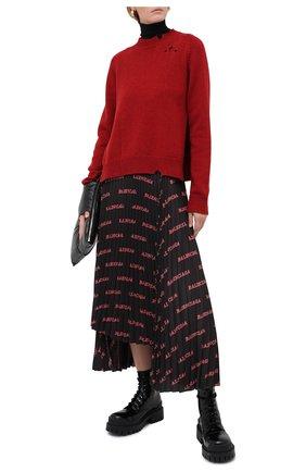 Женский шерстяной свитер MAISON MARGIELA красного цвета, арт. S51GP0200/S17486   Фото 2