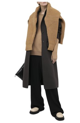 Женский свитер из шерсти и кашемира MAISON MARGIELA бежевого цвета, арт. S51HA1059/S17480   Фото 2