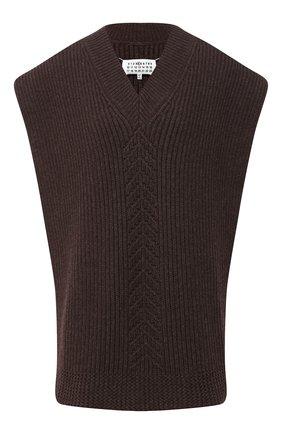 Женский шерстяной жилет MAISON MARGIELA коричневого цвета, арт. S51TH0075/S17482 | Фото 1