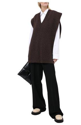 Женский шерстяной жилет MAISON MARGIELA коричневого цвета, арт. S51TH0075/S17482 | Фото 2