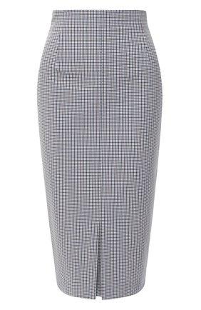 Женская юбка BOSS темно-синего цвета, арт. 50430603 | Фото 1