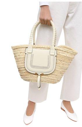 Женский сумка marcie medium CHLOÉ белого цвета, арт. CHC20US828C97 | Фото 2