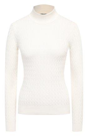 Женская шелковый свитер DOLCE & GABBANA белого цвета, арт. FX883T/JASNV | Фото 1
