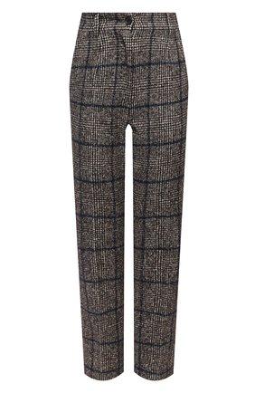 Женские брюки из шерсти и хлопка DOLCE & GABBANA серого цвета, арт. FTAM2T/FQMH7 | Фото 1