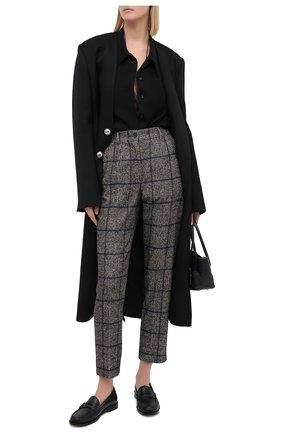 Женские брюки из шерсти и хлопка DOLCE & GABBANA серого цвета, арт. FTAM2T/FQMH7 | Фото 2
