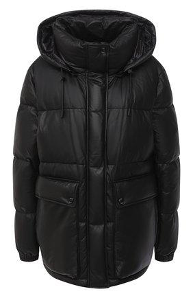 Женский кожаный пуховик YS ARMY PARIS черного цвета, арт. 21WFV20070A24X | Фото 1