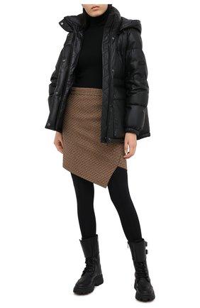 Женский кожаный пуховик YS ARMY PARIS черного цвета, арт. 21WFV20070A24X | Фото 2