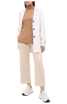 Женские кашемировые брюки LORO PIANA светло-бежевого цвета, арт. FAL2606   Фото 2