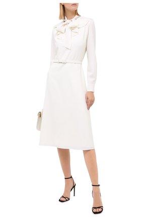 Женское шерстяное платье RALPH LAUREN кремвого цвета, арт. 290823691 | Фото 2