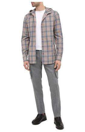 Мужская хлопковая рубашка KITON бежевого цвета, арт. UMCMARH0748711 | Фото 2