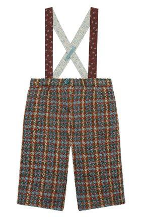 Детские шерстяные брюки GUCCI разноцветного цвета, арт. 630480/ZAE43 | Фото 1