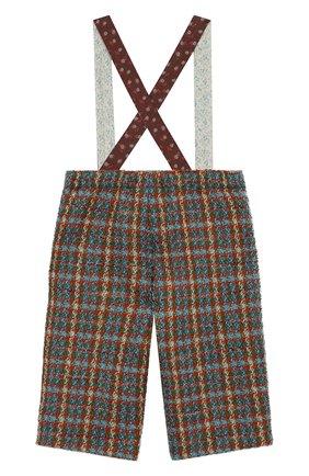 Детские шерстяные брюки GUCCI разноцветного цвета, арт. 630480/ZAE43 | Фото 2