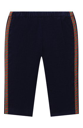 Детские хлопковые брюки GUCCI синего цвета, арт. 629503/XWALA | Фото 1