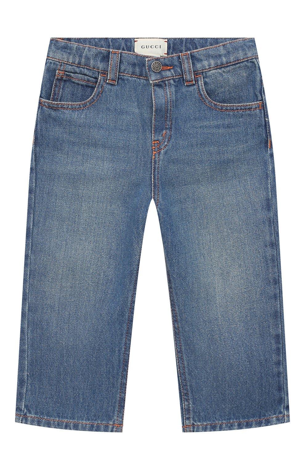 Детские джинсы GUCCI голубого цвета, арт. 629454/XDBDC | Фото 1