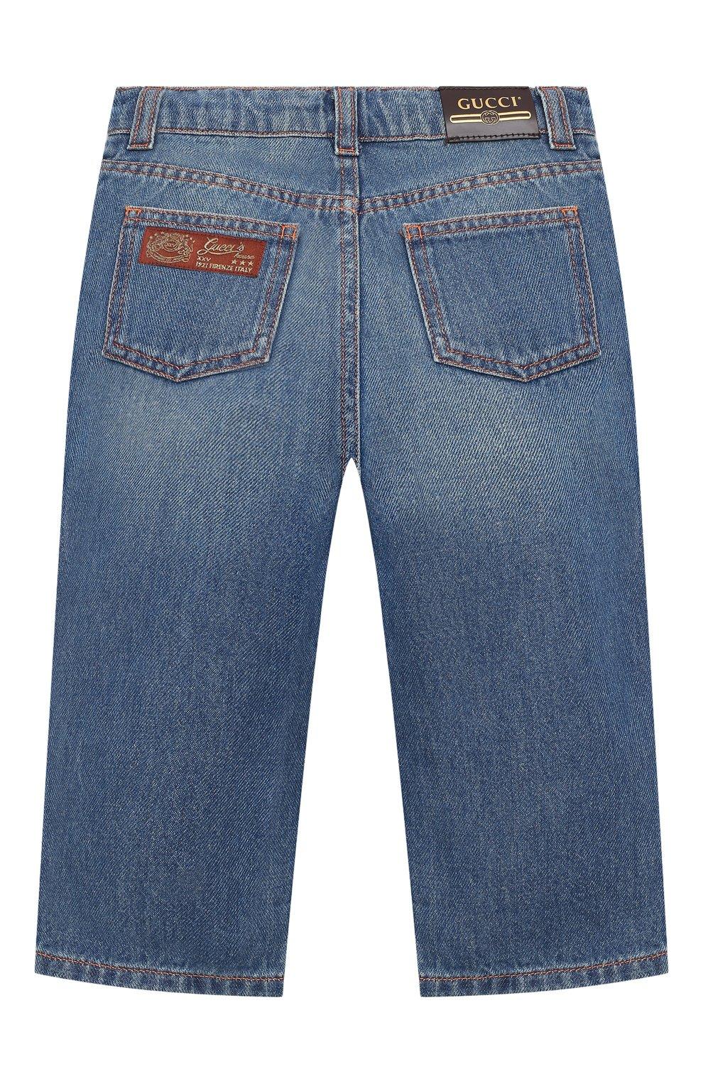 Детские джинсы GUCCI голубого цвета, арт. 629454/XDBDC | Фото 2