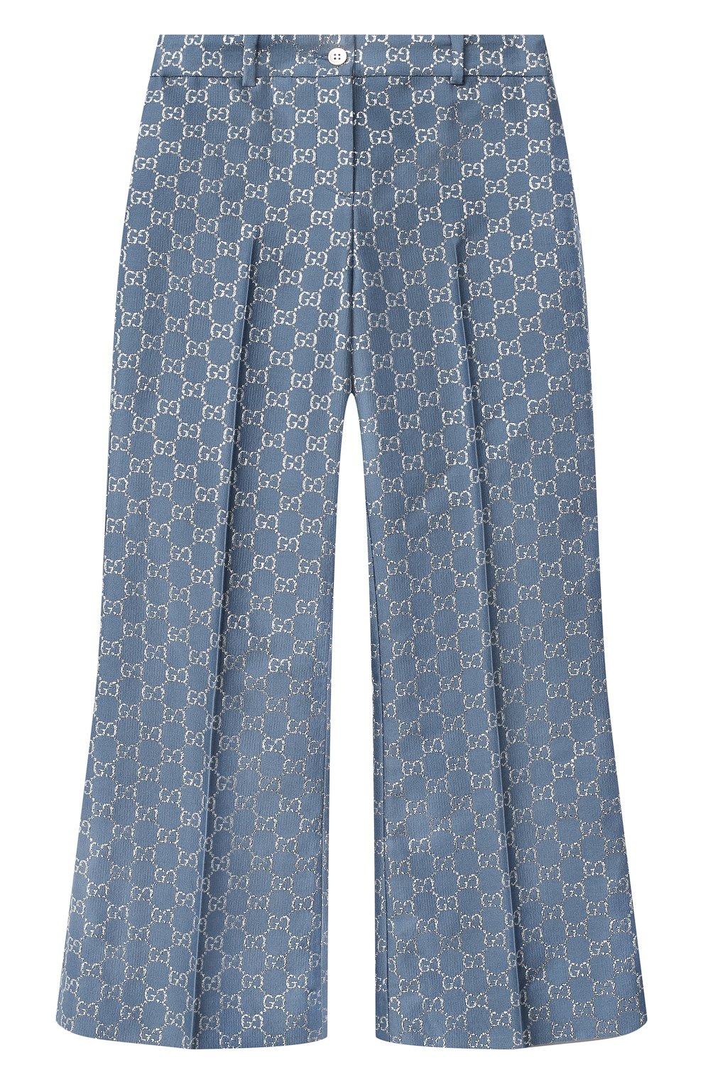 Детские шерстяные брюки GUCCI синего цвета, арт. 629030/ZAD7L | Фото 1