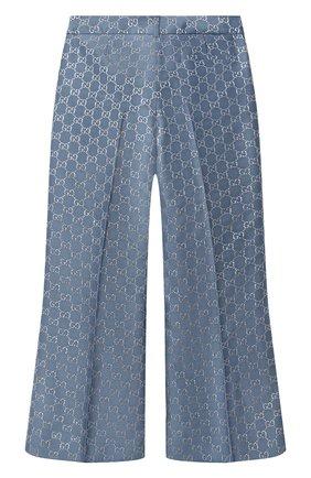 Детские шерстяные брюки GUCCI синего цвета, арт. 629030/ZAD7L | Фото 2