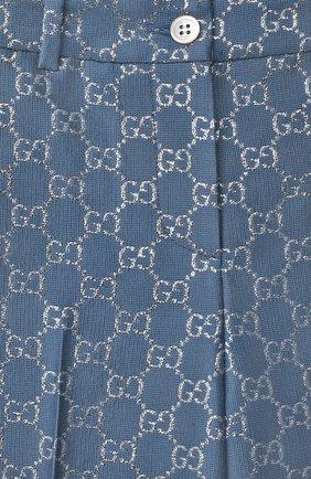 Детские шерстяные брюки GUCCI синего цвета, арт. 629030/ZAD7L | Фото 3