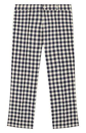 Детские шерстяные брюки GUCCI синего цвета, арт. 626179/XWAKK | Фото 1