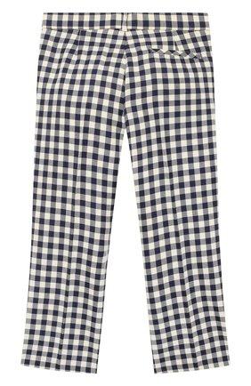 Детские шерстяные брюки GUCCI синего цвета, арт. 626179/XWAKK | Фото 2