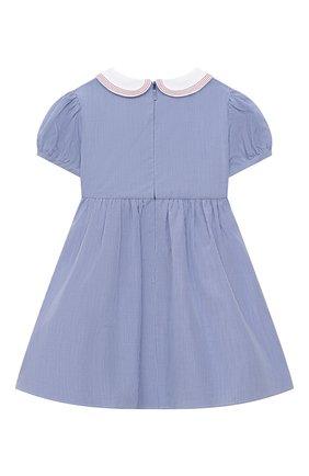 Женский хлопковое платье GUCCI голубого цвета, арт. 622178/ZABNG   Фото 2