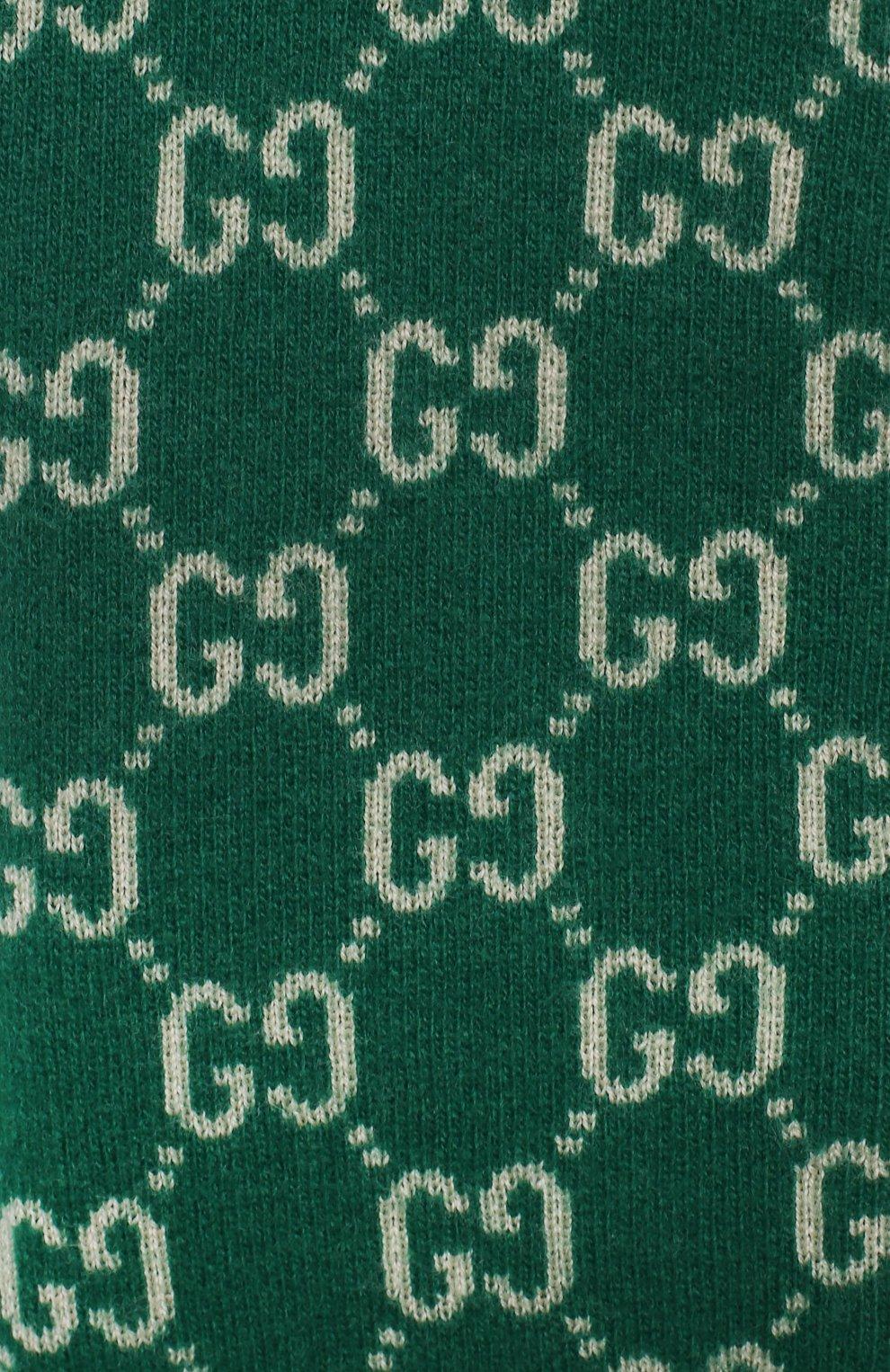 Детский шерстяная толстовка GUCCI зеленого цвета, арт. 615412/XKBD7 | Фото 3