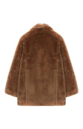 Детское шерстяное пальто YVES SALOMON ENFANT коричневого цвета, арт. 21WEM606XXLATI/4-6 | Фото 2