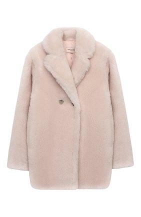 Детское шерстяное пальто YVES SALOMON ENFANT розового цвета, арт. 21WEM606XXLATI/12-14 | Фото 1