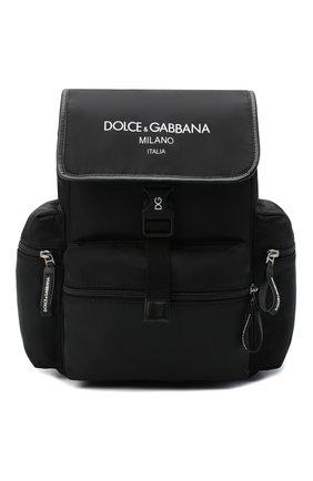 Детская рюкзак DOLCE & GABBANA черного цвета, арт. EM0100/AJ923 | Фото 1