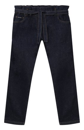 Детские джинсы DOLCE & GABBANA темно-синего цвета, арт. L52F13/LD923/8-14 | Фото 1