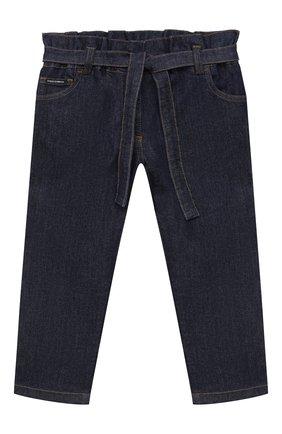 Детские джинсы DOLCE & GABBANA темно-синего цвета, арт. L52F13/LD923/2-6 | Фото 1