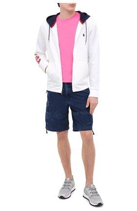 Мужская хлопковая футболка POLO RALPH LAUREN розового цвета, арт. 710671438 | Фото 2