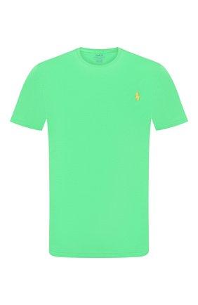 Мужская хлопковая футболка POLO RALPH LAUREN зеленого цвета, арт. 710671438 | Фото 1