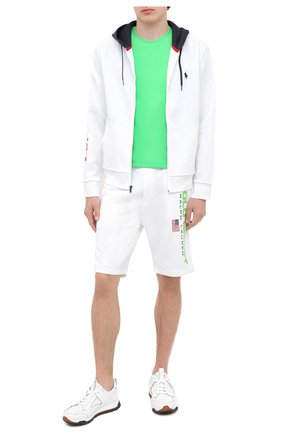 Мужская хлопковая футболка POLO RALPH LAUREN зеленого цвета, арт. 710671438 | Фото 2